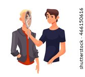 concept of empathy ... | Shutterstock . vector #466150616