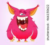 Happy Cartoon Monster. Vector...