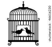 vector birdcage | Shutterstock .eps vector #46616230