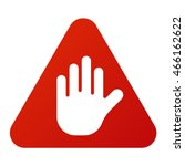 attention icons danger button... | Shutterstock .eps vector #466162622