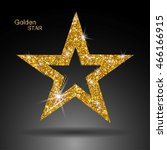 golden star vector banner. gold ... | Shutterstock .eps vector #466166915