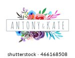 watercolor illustration. best... | Shutterstock . vector #466168508
