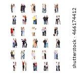 standing together achievement...   Shutterstock . vector #466174412