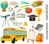 School Icon Set With Isolated...