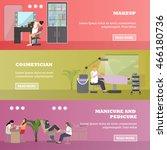 beauty salon vector concept... | Shutterstock .eps vector #466180736