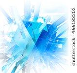 technology background.3d... | Shutterstock . vector #466183202