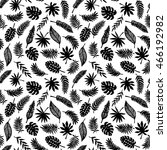 tropical leaves seamless...   Shutterstock .eps vector #466192982