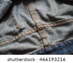 close up inside old blue jeans  ... | Shutterstock . vector #466193216