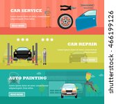 car repair shop concept vector... | Shutterstock .eps vector #466199126