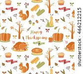 seamless autumn thanksgiving... | Shutterstock .eps vector #466212215