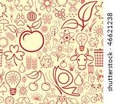 seamless nature wallpaper | Shutterstock .eps vector #46621238