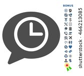 message time icon with bonus... | Shutterstock .eps vector #466213085
