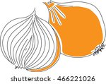 onion vector isolated | Shutterstock .eps vector #466221026