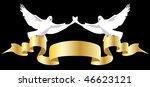 dove keeps gold tape | Shutterstock .eps vector #46623121