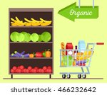 fruits and vegetables shop.... | Shutterstock .eps vector #466232642