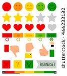 rank  level of satisfaction... | Shutterstock .eps vector #466233182