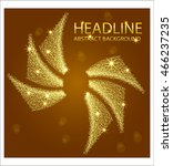 banner templates with golden... | Shutterstock .eps vector #466237235
