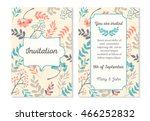 wedding invitation card with... | Shutterstock .eps vector #466252832