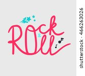 rock and roll lettering for t... | Shutterstock .eps vector #466263026
