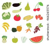 set of vegetables and ffruits.... | Shutterstock .eps vector #466265576
