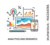 analytics and research | Shutterstock .eps vector #466266086