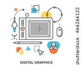 digital graphics concept