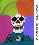 clown devil and happy halloween ... | Shutterstock . vector #466272905