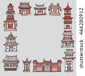 vector template with asian... | Shutterstock .eps vector #466280912