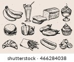 set of different hand drawn... | Shutterstock .eps vector #466284038