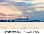 concrete bridge view during... | Shutterstock . vector #466288922