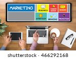 marketing strategy two... | Shutterstock . vector #466292168