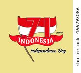 71 years indonesia independence ... | Shutterstock .eps vector #466293086