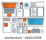 programming coding background... | Shutterstock .eps vector #466312058
