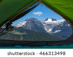 scenic view from tent | Shutterstock . vector #466313498