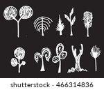 vector chalkboard style tree... | Shutterstock .eps vector #466314836