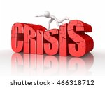 icon man overcoming the crisis  ... | Shutterstock . vector #466318712