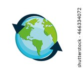 planet earth arrow delivery... | Shutterstock .eps vector #466334072