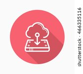 line cloud download  icon ...
