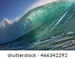 big ocean surfing wave....   Shutterstock . vector #466342292