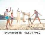 outing near waterfront   joyful ... | Shutterstock . vector #466347962