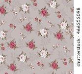 seamless vintage flower pattern  | Shutterstock .eps vector #466353098