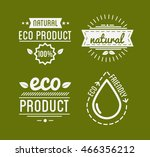 set of organic food labels and... | Shutterstock .eps vector #466356212