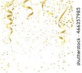 gold confetti celebration | Shutterstock .eps vector #466357985