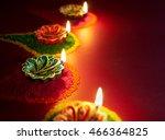 Diwali Oil Lamp   Colorful Cla...