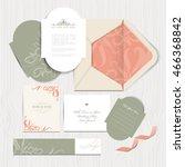 vintage wedding card... | Shutterstock .eps vector #466368842