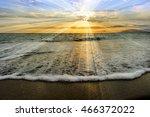 Ocean Sunset Rays Is An...