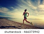 healthy young fitness woman... | Shutterstock . vector #466373942