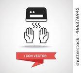 hand dryer icon | Shutterstock .eps vector #466376942