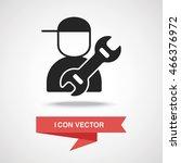 plumber icon | Shutterstock .eps vector #466376972