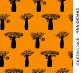 seamless pattern made from hand ... | Shutterstock .eps vector #466380662